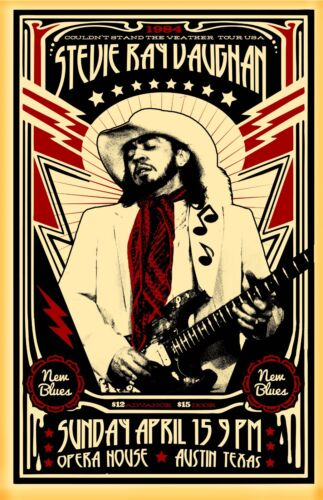Stevie Ray Vaughan 1984 Tour Poster