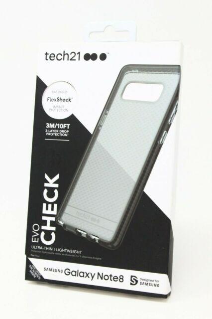 reputable site f3e33 47376 tech21 EVO Check Case Cover for Samsung Galaxy Note 8 Smokey Black