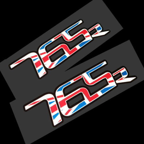 Triumph Street triple 765 R union flag  stickers decals REFLECTIVE  x 2