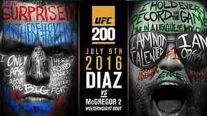 "24x36/"" CONOR McGREGOR VS NATE DIAZ UFC 202 MMA Promo Poster 13x20/"" 32x48/"""