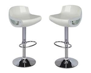 Coppia 2 sgabelli abs bar sedie cucina ristorante sgabello bianco
