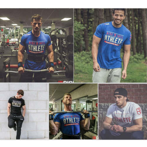 Men/'s Gym Crossfit Fitness Print T-shirt Hip Hop Bodybuilding Shirt Cool D154