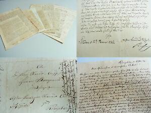 5-Briefe-POTSDAM-1835-40-Regimentsarzt-KUHN-1-Garde-Regiment-zu-Fuss-Beilagen