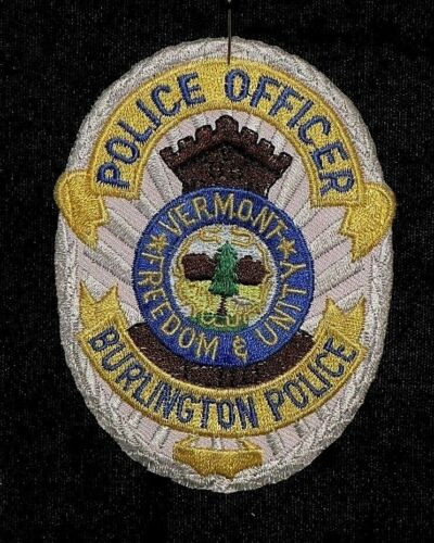 Vermont Freedom /& Unity Police Officer Soft Cloth Badge Burlington Police