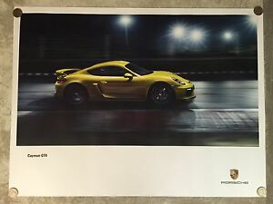 2015-Porsche-Cayman-GT4-Showroom-Advertising-Sales-Poster-RARE-Awesome-L-K