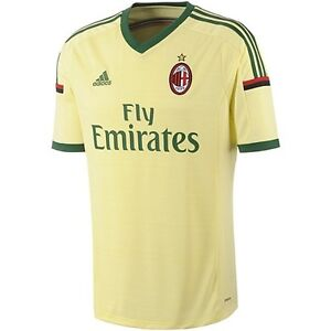 finest selection 85e42 0ddce Details about adidas AC Milan Third Player Replica Jersey Style D87207 MSRP  $90