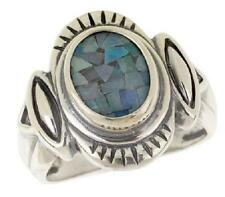 SOUTHWESTERN STERLING MOSAIC OPAL KALEIDOSCOPE TRIPLET RING SIZE 6 QVC SOLD OUT
