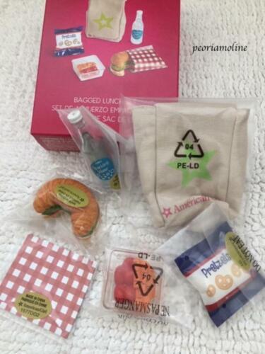 American Girl BAGGED LUNCH SET~School~Food Croissant Water Bottle Bag