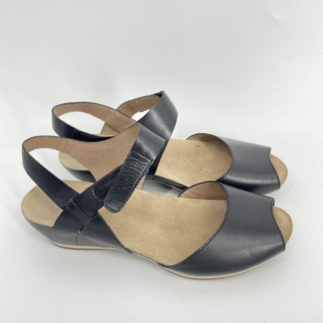 Dansko Vera Burnished Black Leather