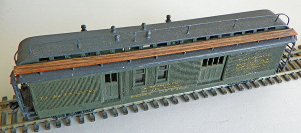 HOn3 D&RGW Railway PO & Express Baggage Car, laser cut wood kit MRGS