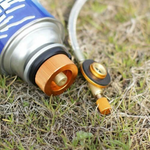 Aluminum Alloy Camping Stove Butane Gas Adapter Convert Fuel Canister 4.4*3cm