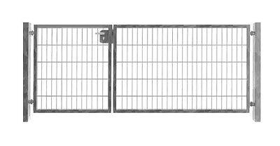 Einfahrtstor 300cm x 103cm 2-flügelig asymmetrisch Verzinkt Tor Gartentor
