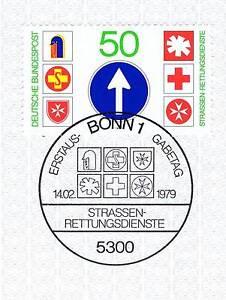 Bon CœUr Rfa 1979: Routes-services De Secours Nº 1004 Avec Le Bonner Cachet Spécial! 1a! 156-gsdienste Nr. 1004 Mit Dem Bonner Sonderstempel! 1a! 156fr-fr Afficher Le Titre D'origine