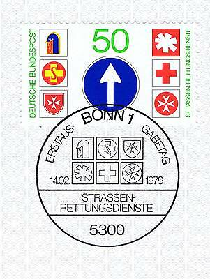 Brd 1979: Straßen-rettungsdienste Nr. 1004 Mit Dem Bonner Sonderstempel! 1a 1705