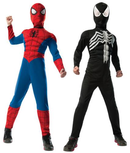 Spiderman Reversible Deluxe Child Boys Costume Jumpsuit Fancy Dress Rubies
