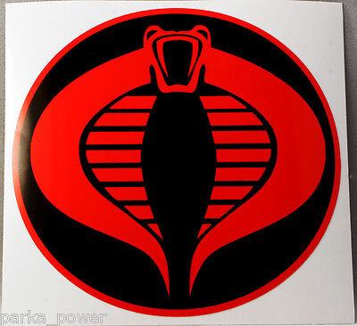 ShadowMajik G.I Joe//GI Joe Cobra Vinyl Decal Sticker 6 X 5.6, Black