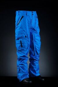 2014-NWT-INI-COOPERATIVE-EXPEDITION-SNOWBOARD-PANTS-L-BLUE-WIRE-PLAID