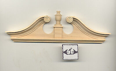 Door Pediment - fits Double Deerfield - dollhouse 1:12 scale 7172 1pc Houseworks