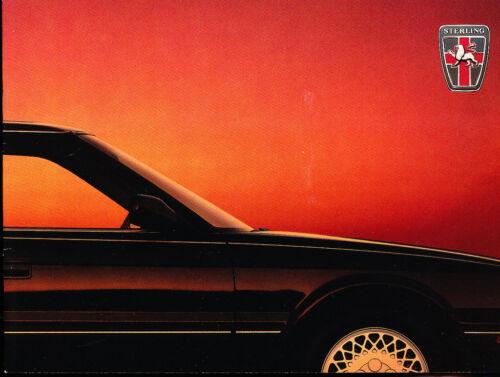 827 827SLi Si 1989 Sterling Rover 12-page Original Car Dealer Sales Brochure