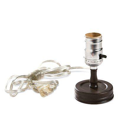 Brown Metal MASON Canning JAR  Electric LAMP LIGHT ADAPTER CONVERTER KIT