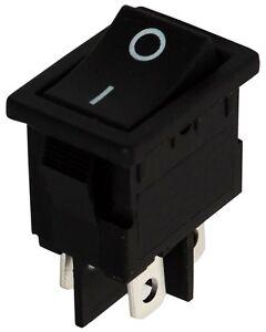 Trempé Interrupteur Commutateur Contacteur Bouton à Bascule Noir Dpst On-off 6a/250v