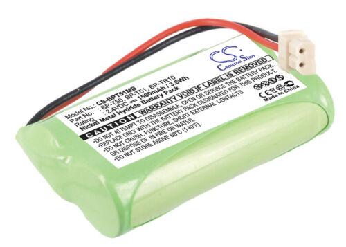 2.4V Batería Para Fisher M6163 1500mAh Nuevo
