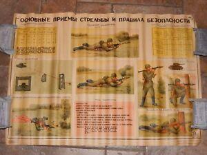VINTAGE ORIGINAL SOVIET RUSSIAN USSR military PROPAGANDA POSTER