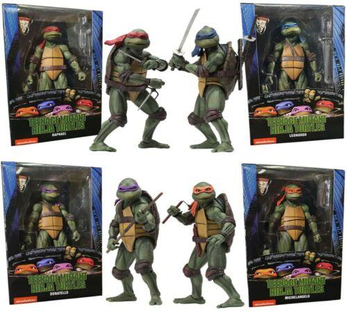 """NECA Teenage Mutant Ninja Turtles 1990 Movie Official 7/"""" TMNT Action Figure UK"""