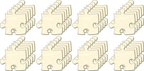 Set 40 Teile Blanko Puzzle unendlich Bemalen Puzzleteile aus Holz Größe S