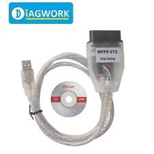 MPPS V13 SMPS K CAN Flasher chip tunning ECU Remp OBD2 diagnostic Cable V13.02