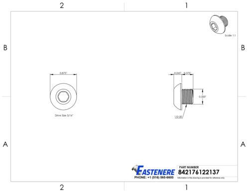 3//8-16 Button Head Socket Cap Screws Alloy Steel Grade 8 Black Oxide Allen Hex
