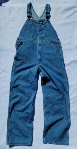Men's Dickies Carpenter Bib Overalls Blue Denim Zi