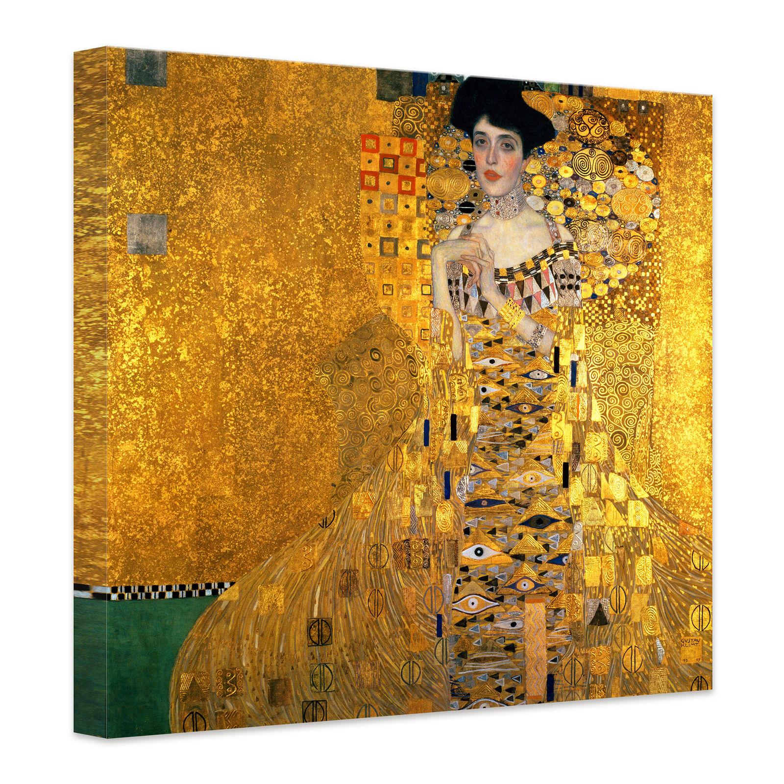 Canevas toile KLIMT-effigie de la Adele Bloch-Bauer jaune