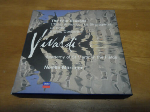 1 of 1 - Vivaldi Orchestral Works CD Boxset The Four Seasons Neville Mariner 7-Disc Decca
