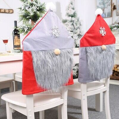 Super Party Christmas Decoration Santa Claus Table Red Hat Decor Dinner Chair Cover Uk Ebay Squirreltailoven Fun Painted Chair Ideas Images Squirreltailovenorg