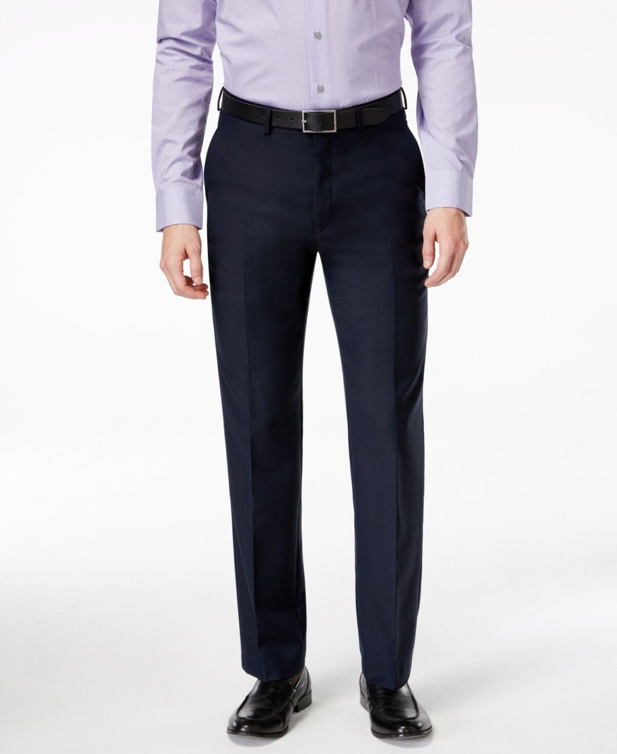 RYAN SEACREST Men blueE MODERN FIT SUIT WOOL DRESS TROUSERS PANTS 34 W 32 L