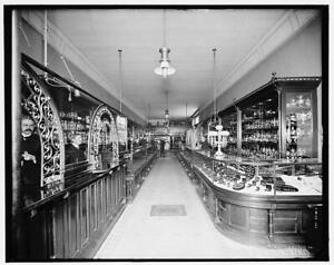 Interior,Traub Brothers store,jewelry,cabinets,displays ...
