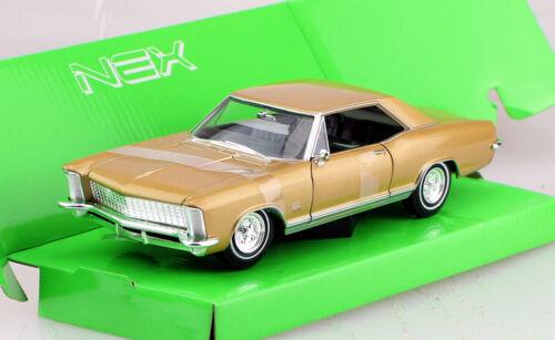 Buick Riviera gran sport 1965 oro 1:24 Welly maqueta de coche 24072