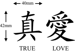 Chinese True Love Symbol Temporary Tattoos Ebay
