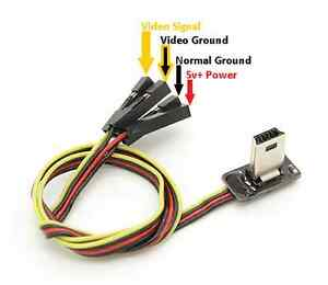 gopro hero 4 black fpv transmitter video output av usb cable wire rh ebay com usb wiring power only usb power wiring diagram
