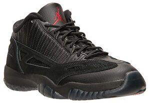 80c7dbd393d Nike Air Jordan 11 XI Retro Low iE BG SZ 5Y Black Referee OG GS ...