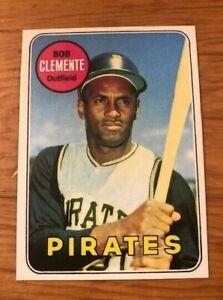 1969-Topps-Reprint-50-Roberto-Bob-Clemente-Pittsburgh-Pirates-Card-MINT-RP