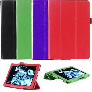 Genuine-Leather-Folio-Smart-Case-Cover-For-Kindle-Fire-HDX-8-9-034-inch-Tablet