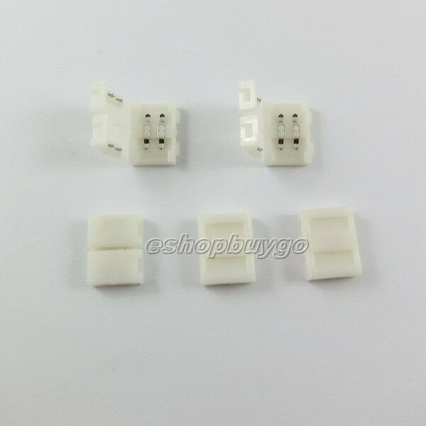 10mm 2PIN Connector for 5050 5630 LED Light  Strip Single Color 10mm PCB