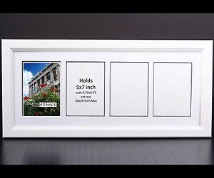 Creativepf 4 Opening Multi 5x7 White Picture Frame W 10x24 White