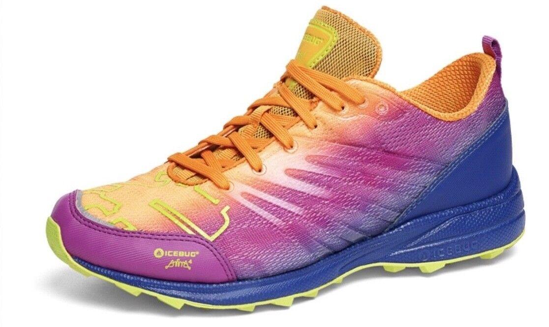 NWB Icebug Women's Anima4 RB9X Traction Running shoes Size 5.5B (US) Marigold Gr