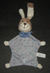 TCM Hase Häschen Bunny grau beige Punkte Schmusetuch Kuscheltuch Schnuffeltuch