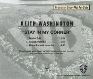 Keith Washington Stay In My Corner PROMO MUSIC AUDIO CD