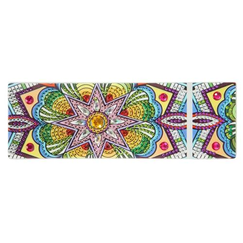 DIY Mandala Special Shaped Diamond Painting 2 Grids Pencil Case Storage Boxes