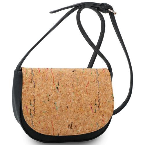 Vleder Bag Jennifer Crossbody Kork Umhängetasche Satteltasche Shoulderbag